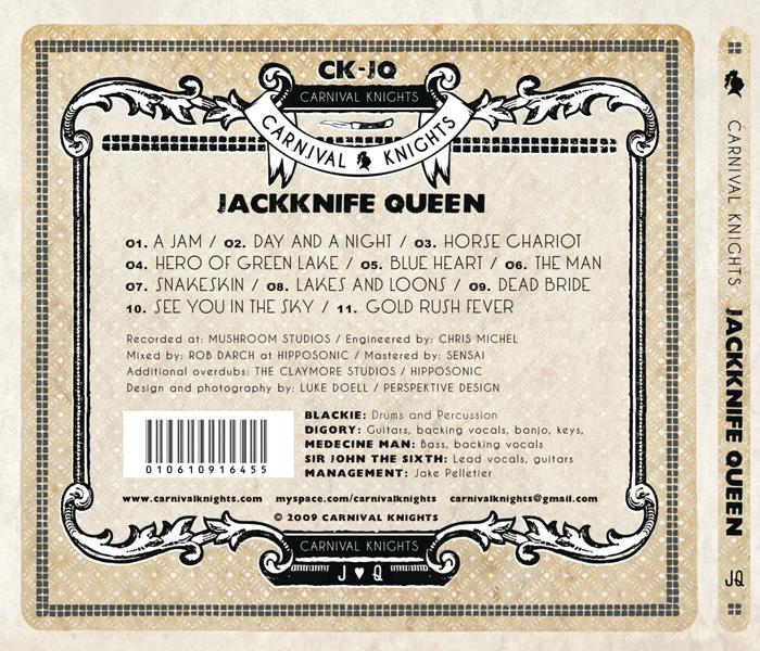 JACKKNIFE QUEEN – ALBUM DESIGN